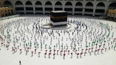 [PHOTOS] 2020 Hajj Pilgrims observe social distancing amid virus pandemic - newsheadline247.com